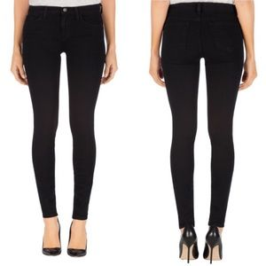 J Brand Black Mid Rise Skinny Jeans in Shadow